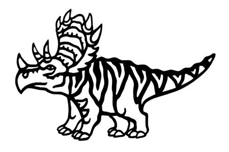Triceratops Intricate Scrapbooking Laser Cut
