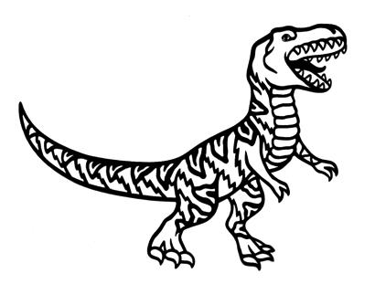 Tyrannosaurus Intricate Scrapbooking Laser Cut
