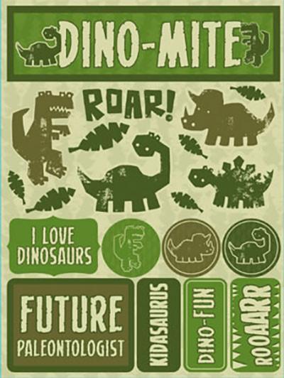 Dinosaurs 3D Scrapbooking Stickers