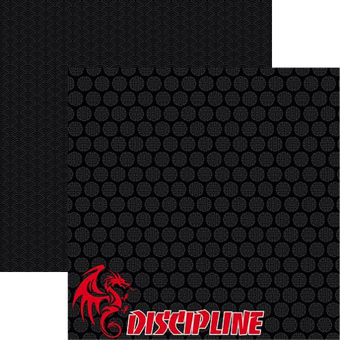 Discipline Double Sided 12x12 Scrapbooking Paper