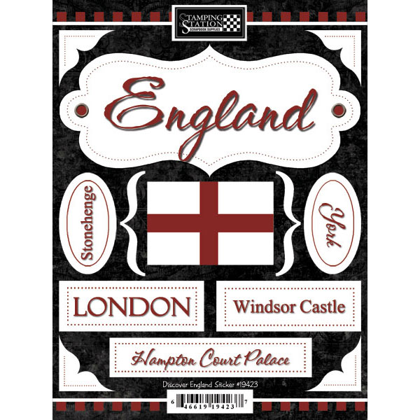 Discover England Scrapbooking Stickers