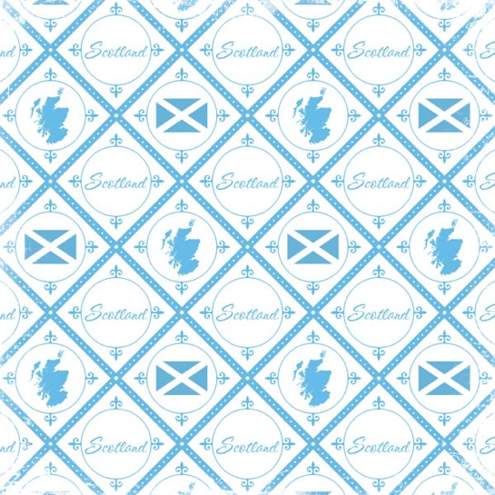 Discover Scotland Collage 12x12 Scrapbooking Paper