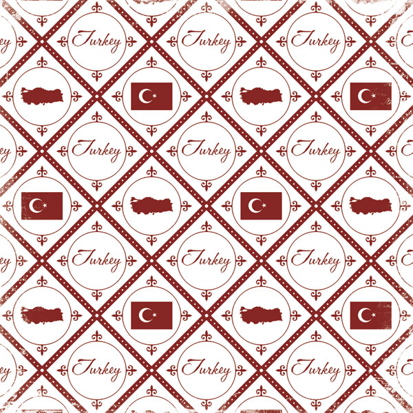 Discover Turkey 12x12 Scrapbooking Paper
