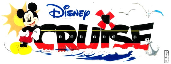 Disney Cruise 3D Scrapbooking Title Stickers