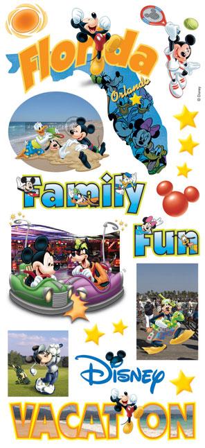 Disney Florida Large Scrapbooking Stickers