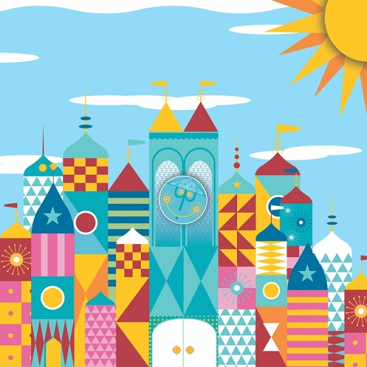 Disney Its a Small World 12x12 Scrapbooking Paper