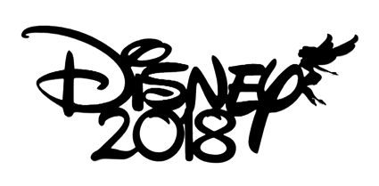 Disney 2018 Scrapbooking Laser Cut Title with fairy