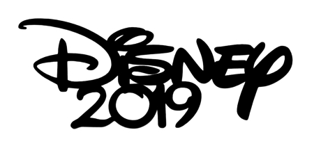 Disney 2019 Scrapbooking Laser Cut Title