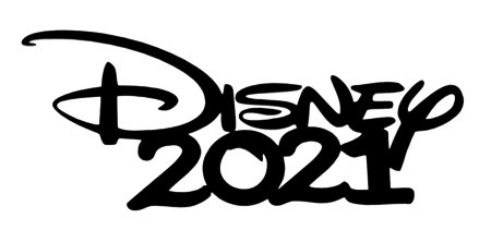 Disney 2021 Scrapbooking Laser Cut Title