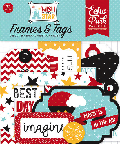 Wish Upon a Star Frames and Tags Die Cut Scrapbooking Shapes