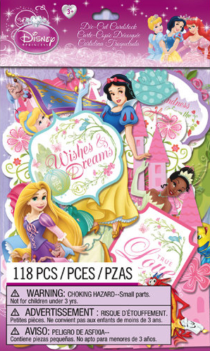 Disney Princesses  118 Die Cut Cardstock Scrapbooking Shapes