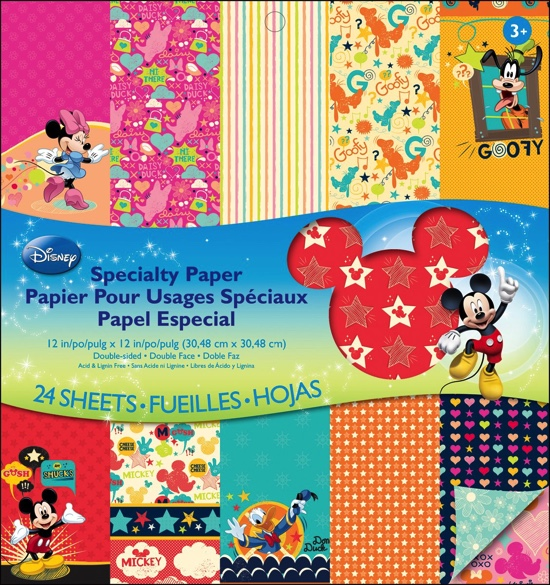 Disney Speciality 12x12 Scrapbooking Pad - 24 double sided sheets