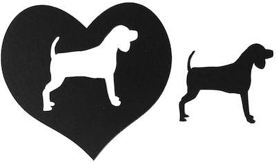 Dog Silhouette and Cut Out Scrapbooking Large Laser Cut Shape