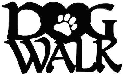 Dog Walk Scrapbooking Laser Cut Title with Paw Heart