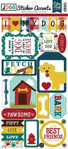 Dogs Cardstock Scrapbooking Stickers