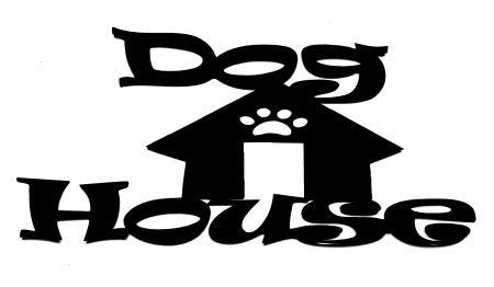 Dog House Scrapbooking Laser Cut Title with house