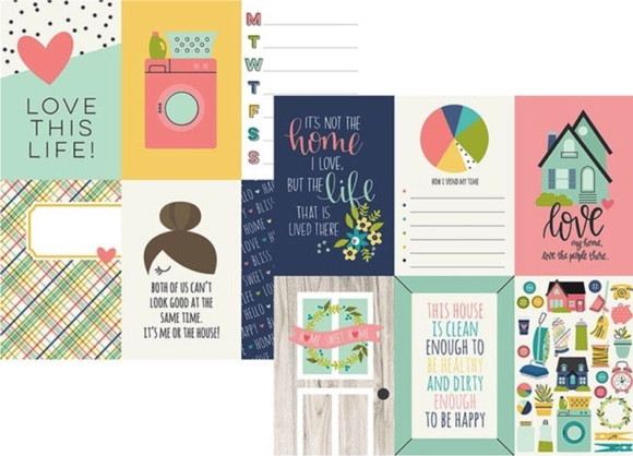 Domestic Bliss Elements Double Sided 12x12 Scrapbooking Paper