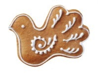 Christmas Dove Cookie Die Cut Scrapbooking Sticker