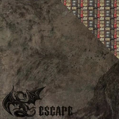 Dragon Escape Double Sided 12x12 Scrapbooking Paper