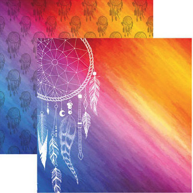 Dreamcatcher 12x12 Double Sided Scrapbooking Paper