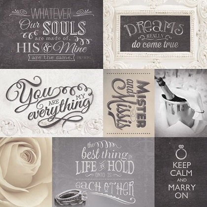Wedding Dreams Come True 12x12 Scrapbooking Paper