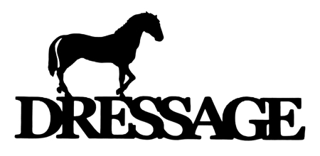 Dressage Scrapbooking Laser Cut Title with Horse