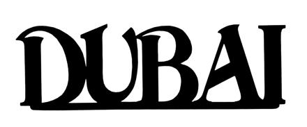 Dubai Scrapbooking Laser Cut Title