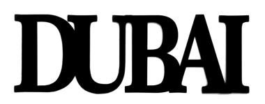 Dubai Laser Cut Scrapbooking Title