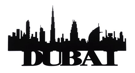 Dubai Scrapbooking Laser Cut Title with Skyline
