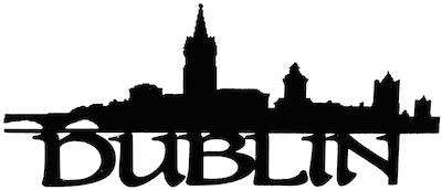 Dublin Scrapbooking Laser Cut Title with Skyline