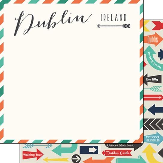 Dublin Memories 12x12 Double Sided Scrapbooking Paper