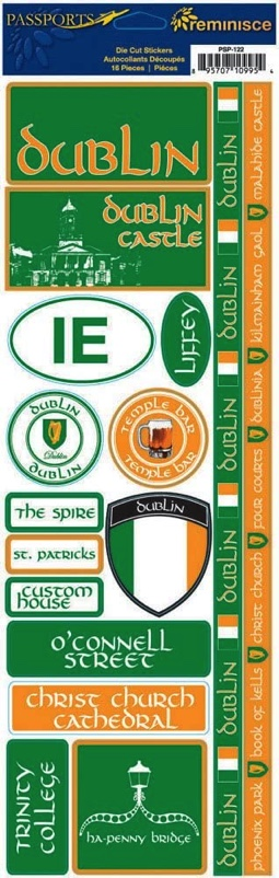 Dublin Cardstock Scrapbooking Stickers and Borders