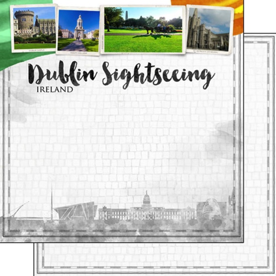 Dublin Sightseeing 12x12 Double Sided Scrapbooking Paper