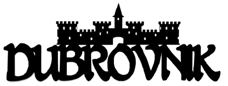 Dubrovnik Scrapbooking Laser Cut Title with Fortress