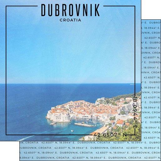 Dubrovnik 12x12 Double Sided Scrapbooking Paper