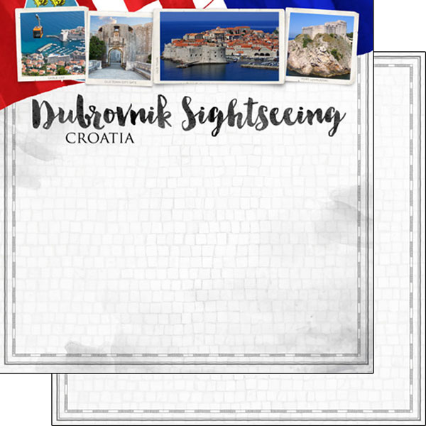 Dubrovnik Sightseeing 12x12 Double Sided Scrapbooking Paper
