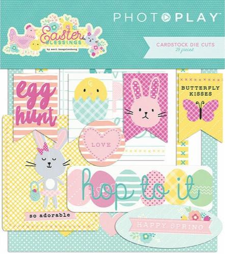 Easter Blessings Die Cut Scrapbooking Ephemera