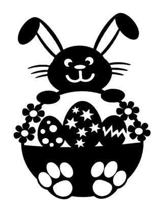 Easter Bunny Intricate Scrapbooking Laser Cut