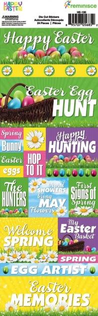 Easter Cardstock Scrapbooking Stickers