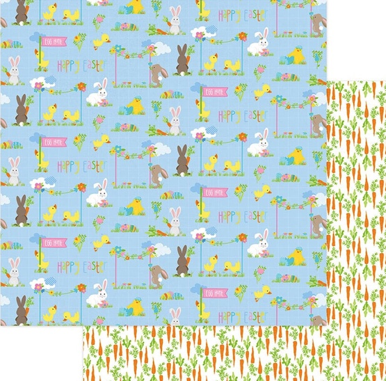 Easter Parade Double Sided 12x12 Scrapbooking Paper