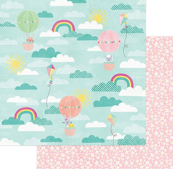 Easter Peeps Double Sided 12x12 Scrapbooking Paper