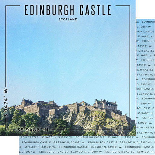 Edinburgh Castle 12x12 Double Sided Scrapbooking Paper