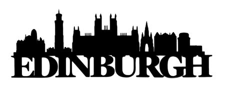 Edinburgh Scrapbooking Laser Cut Title with Skyline