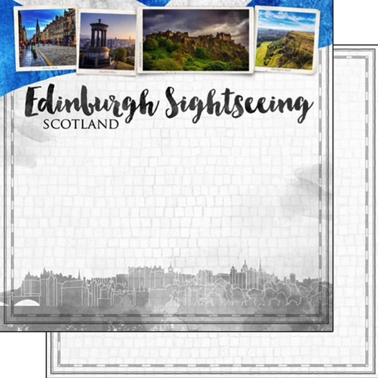 Edinburgh Sightseeing 12x12 Double Sided Scrapbooking Paper