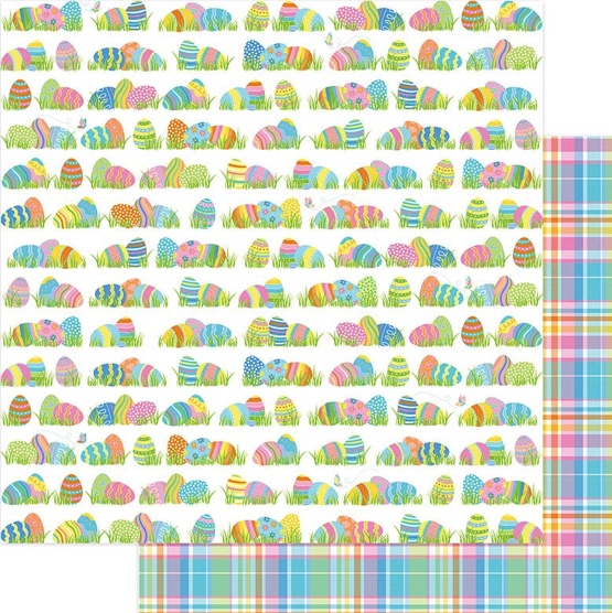 Egg Hunt Double Sided 12x12 Scrapbooking Paper