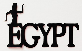 Egypt Scrapbooking Laser Cut Title with Egyptian Figure
