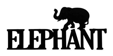Elephant Scrapbooking Laser Cut Title with Elephant