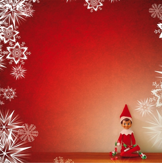 Elf on the Shelf 12x12 Scrapbooking Paper