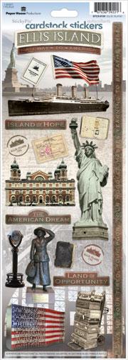 Ellis Island Cardstock Scrapbooking Stickers