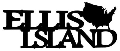 Ellis Island Scrapbooking Laser Cut Title with USA shape